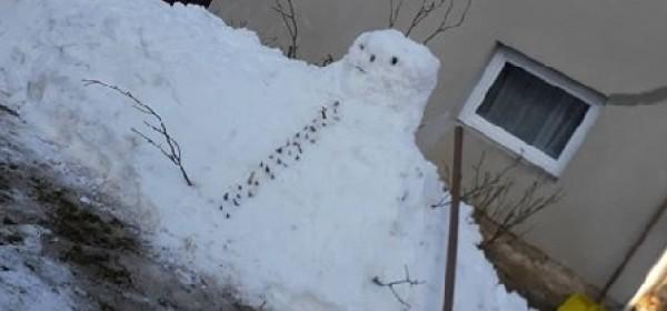 Snjegović koji čisti snijeg?