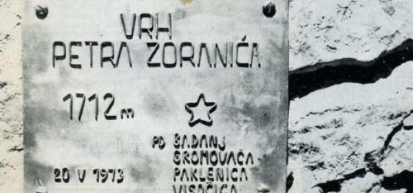Kako su planinari počastili Petra Zoranića