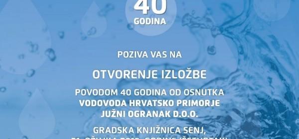 Izložba povodom 40 godina od osnutka Vodovoda Hrvatsko primorje Južni Ogranak
