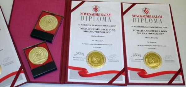 Pregršt velikih zlatnih medalja s novosadskoga poljoprivrednog sajma