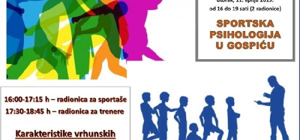 Radionice iz športske psihologije - 11. lipnja