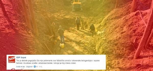 SDP Sopot nakon otkrića masovne grobnice: Tito ih je trebao sve pobiti!