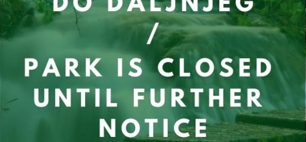 Nacionalni parkovi zatvoreni za posjetitelje