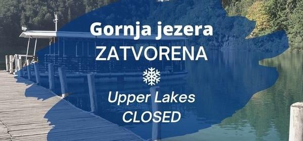 Gornja jezera zatvorena za posjetitelje