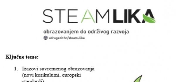 STEAM Lika: Obrazovanjem do održivog razvoja