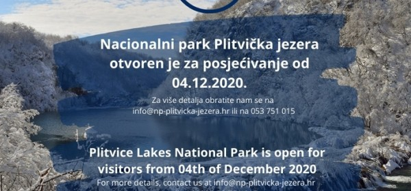 Plitvička jezera otvorena za posjetitelje