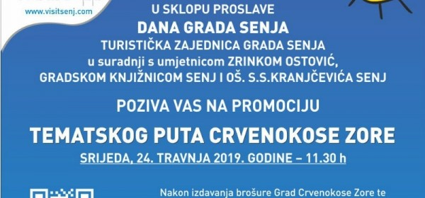 Promocija tematskog puta Crvenokose Zore 24. travnja 2019.