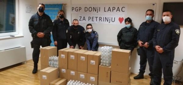 Lički policajci s kolegama na ispomoći odrekli se pakiranih obroka za Petrinju