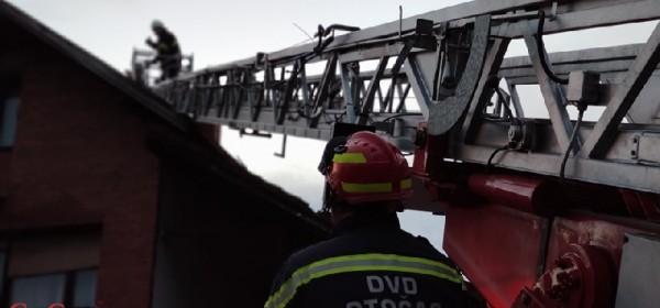Lakše ozlijeđen vatrogasac  DVD-a Otočac u Sisku