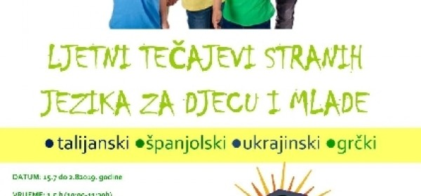 Besplatni tečaj stranih jezika u Grabovači