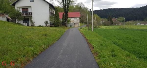 Izvršeno asfaltiranje županijskih cesta na području Općine Brinje
