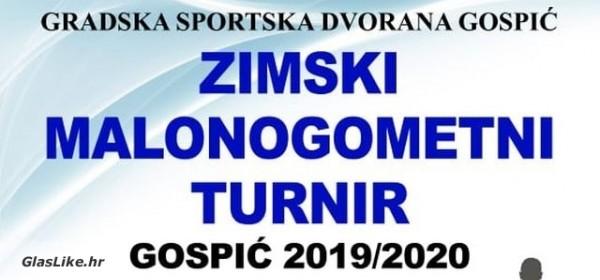 """Zimski malonogometni turnir """"Gospić 2019/2020"""" - danas početak"""